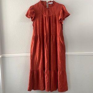 Polagram Rust Color Midi Dress size Large